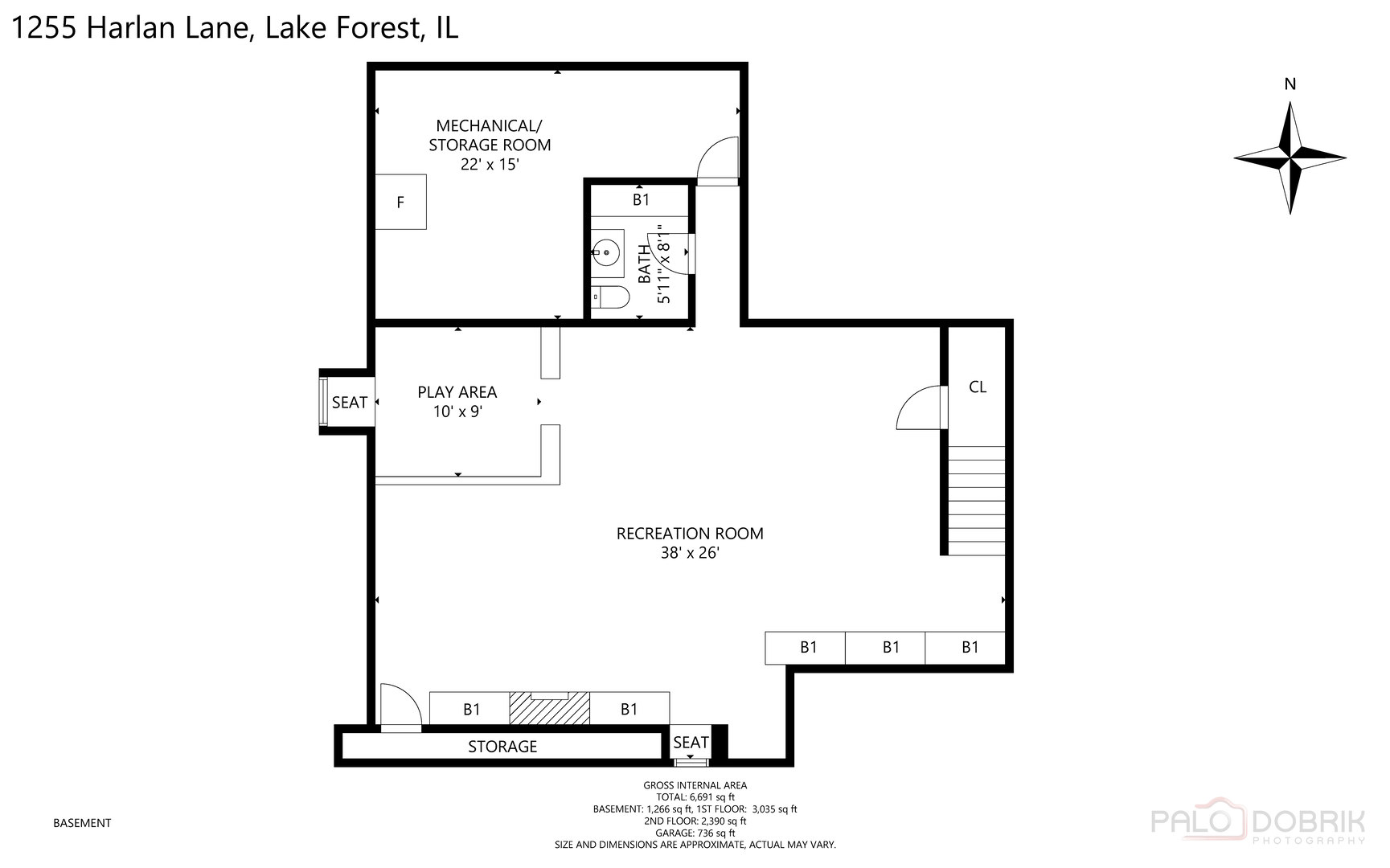 1255 Harlan, Lake Forest, Illinois, 60045