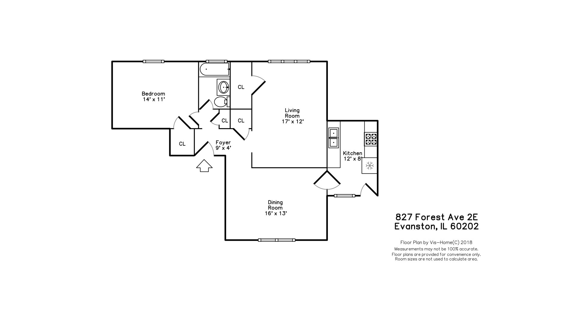 827 Forest 2E, Evanston, Illinois, 60202