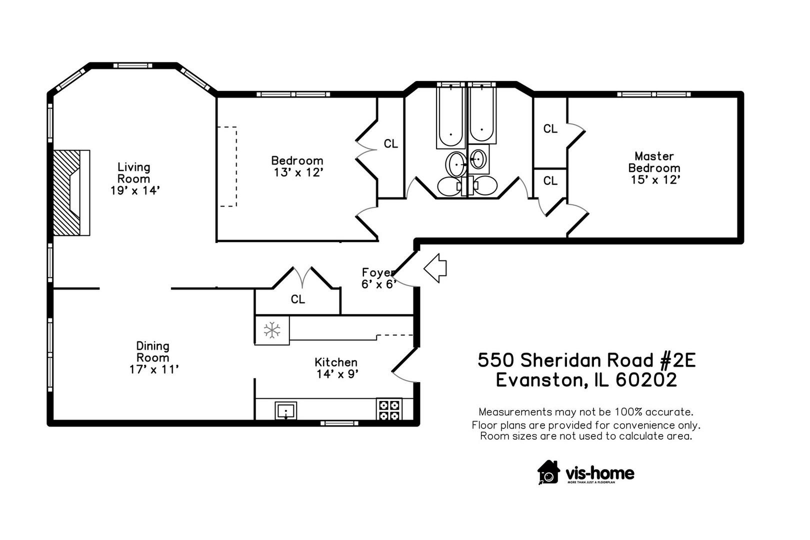 550 Sheridan 2E, EVANSTON, Illinois, 60202