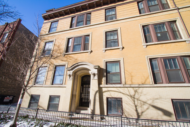 Updated unit with vintage charm in eastern Lakeview three blocks from the lake and all the amenity the lakefront offers. Incredible woodwork throughout the unit. In-unit washer/dryer. Stainless steel appliances. Ample closets. Plenty of living space inclusive of a large living room and an ample dining room with a built-in hutch. Secluded outdoor deck private to the unit as well as a common rooftop deck for all to enjoy. Close to the Sheridan Redline stop and plenty of restaurants and grocery stores.