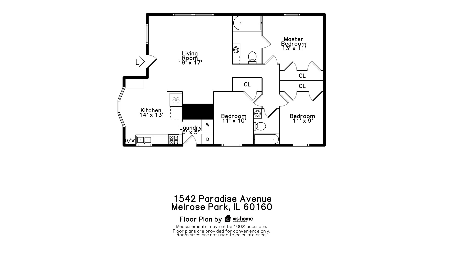 1542 Paradise, Melrose Park, Illinois, 60160