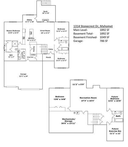 1314 Stonecrest, Mahomet, Illinois, 61853