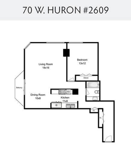 70 Huron Unit Unit 2609 ,Chicago, Illinois 60654