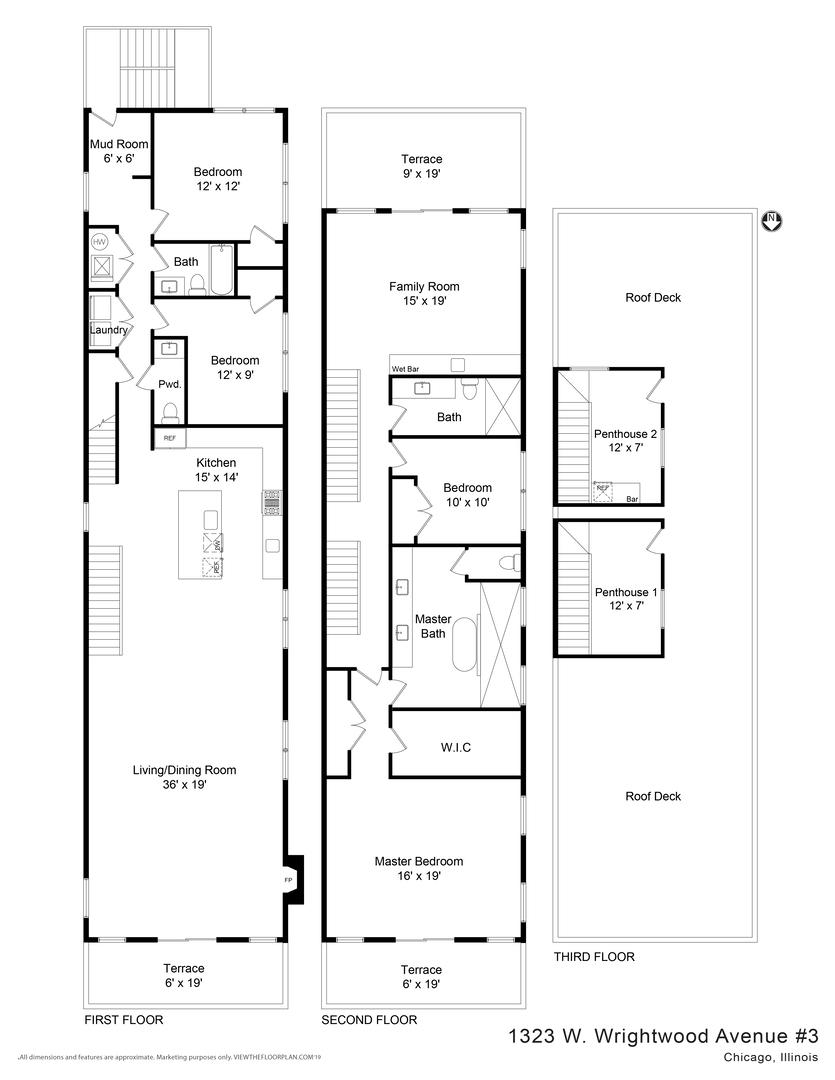 1323 Wrightwood Unit Unit 3 ,Chicago, Illinois 60614