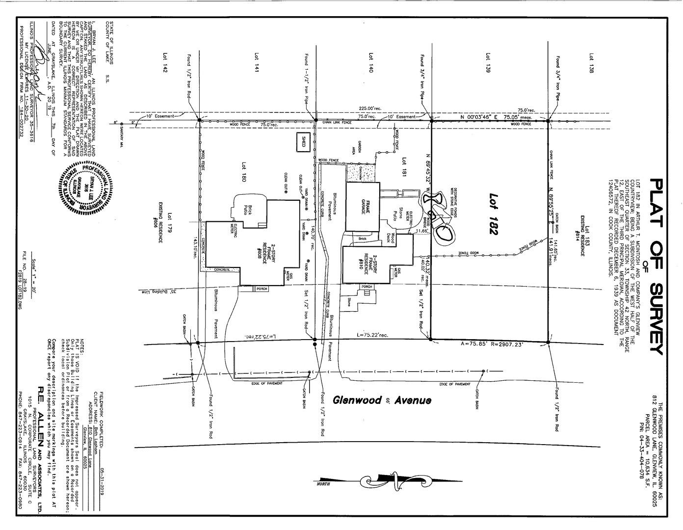 812 Glenwood Lane #  GLENVIEW IL 60025